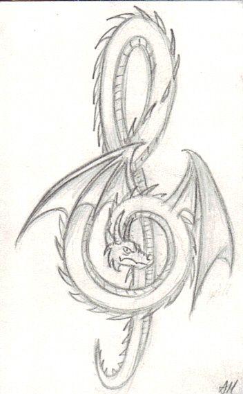 Dragon/ music/ tattoo?