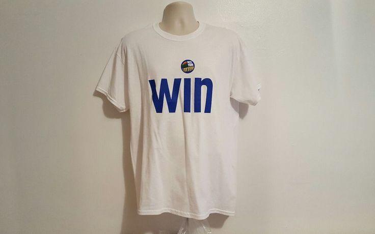 New York Lottery Lotto Promo Win Adult Large White TShirt #Gildan #GraphicTee