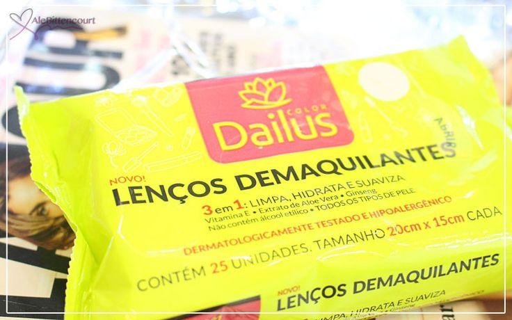 Lenços Demaquilantes 3 em 1: Limpa, Hidrata e Suaviza – Dailus Color
