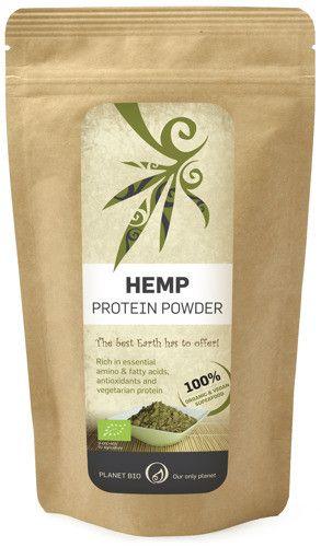 Organiczne białko konopne proszek 200g | Produkty konopne SUPERFOOD Energia Równowaga hormonalna Sport