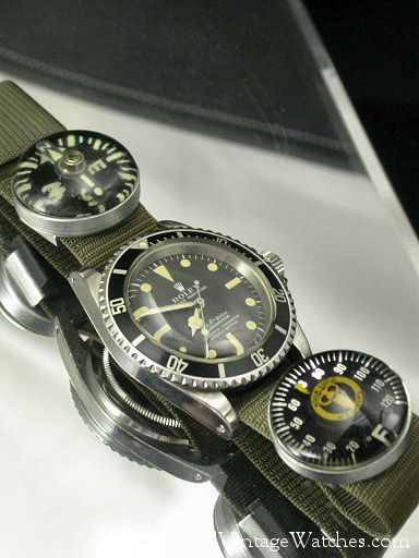 Rolex 5512 with strap dive compass and thermometer.  Circa 1970.