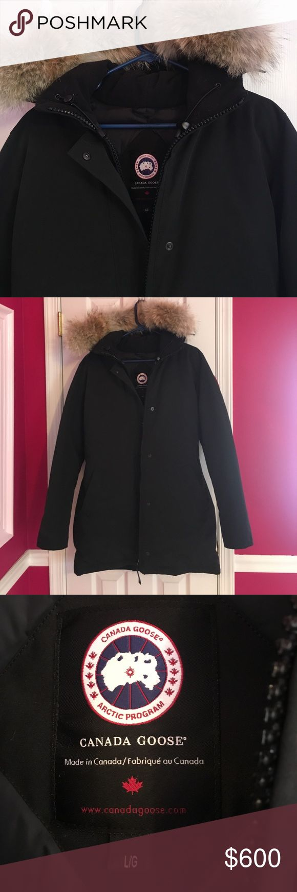 Twice worn Canada goose jacket Worn twice! Perfect condition basically new. Mid length- not too long. Canada Goose Jackets & Coats Utility Jackets