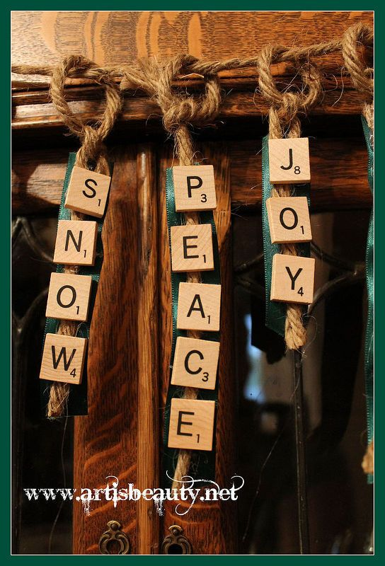 got some old scrabble tiles come on over and find out how to make them into, christmas decorations, crafts, seasonal holiday decor