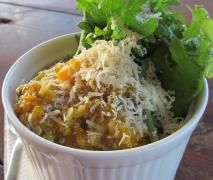Quinoa and Vege Risotto with baby kale