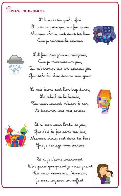 Poeme et poésie fête des mères - Fête des mères - Momes.net