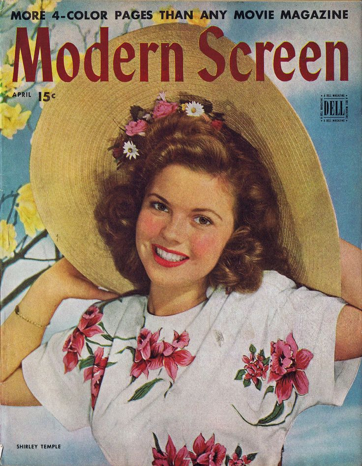 modern screen magazine april 1945 shirley temple. Black Bedroom Furniture Sets. Home Design Ideas
