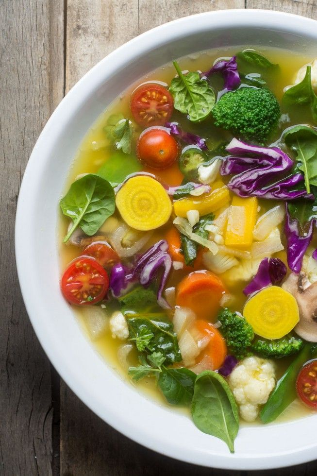 Slimming Detox Soup for getting back on track fast! - just sub veggie broth for a veg version...
