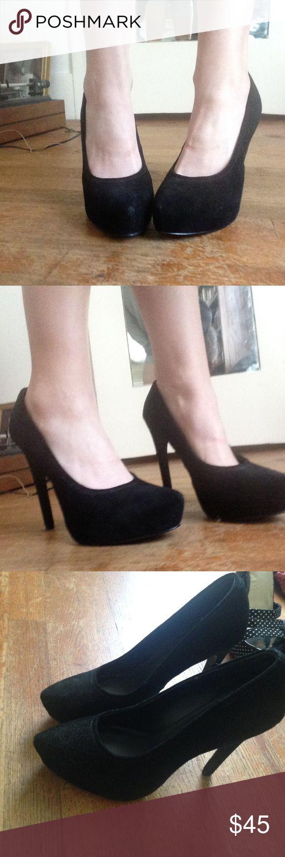 """Kelsi Dagger suede platform pump- worn once! Heel height 5.25"""" platform 1.25"""". Worn once. Really cute just never wear. Kelsi Dagger Shoes Platforms"""