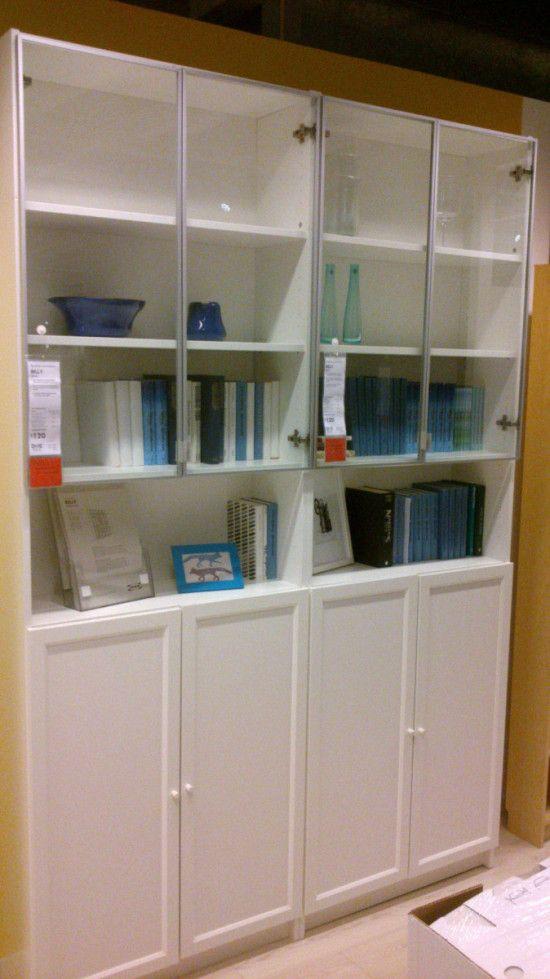 Best 25 glass door bookcase ideas on pinterest blue for Ikea blue billy bookcase