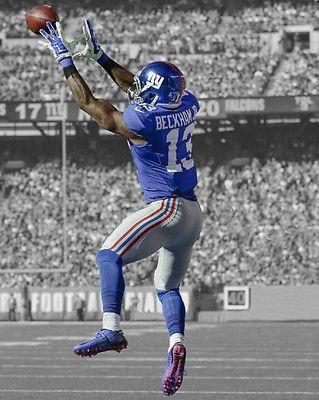 New York Giants ODELL BECKHAM JR Glossy 11x14 Photo Spotlight Football Poster