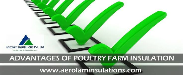 ADVANTAGES OF #POULTRYFARM #INSULATION • Superior #thermal_insulation with less transmission of outer temperature. • Reflection of around 97% of heat. • Visible reduction in animal mortality rate. • Reduction in operating cost • Lightweight, flexible and easy to install. • Non-toxic and environment-friendly. http://www.aerolaminsulations.com/poultry-farm-insulation.php