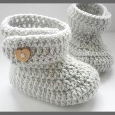 Chaussons/bottes bébé laine 0/3/6 mois