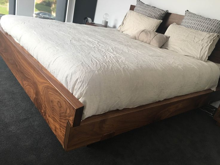 Black Walnut timber bed. www.christiancolefurniture.com.au #bed #timber # wooden # bedroom
