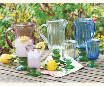 Tulipano glass goblets pitchers glassware tabletop napastyle bar carts pinterest - Plastic sangria glasses ...