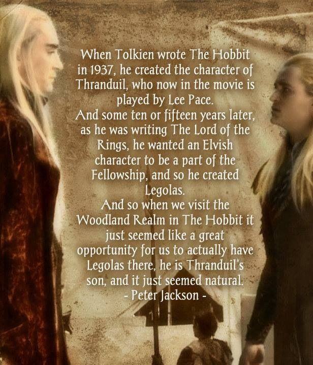 Legolas & father Thranduil - in The Hobbit he is never called by his name though, only 'The Elven King'