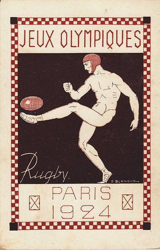 """1924 Paris """"Jeux Olympiques"""" Poster"""