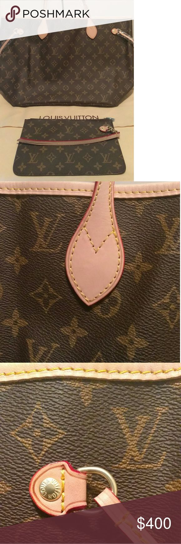 """Neverfull MM Bag Brand New """"inspired"""" Neverfull MM bag Monogram beige interior! """"Real genuine leather"""" comes with pouchette,dust bag,date code and care booklet. This is the perfect everyday handbag and promise to be a head turner!! Guarantee money back if your not satisfied any questions just ask!! Don't miss out ladies and price negotiable but no low balling please!! Free gift with my first sell a OvO hoodie!! Bags Shoulder Bags"""