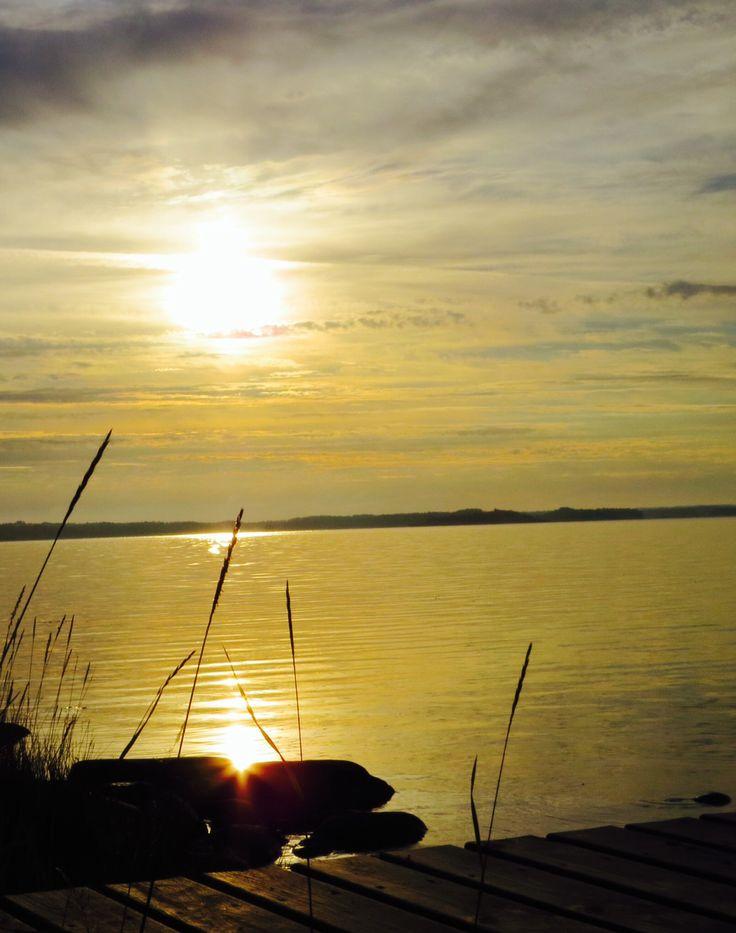 Morning dawn at sea shore