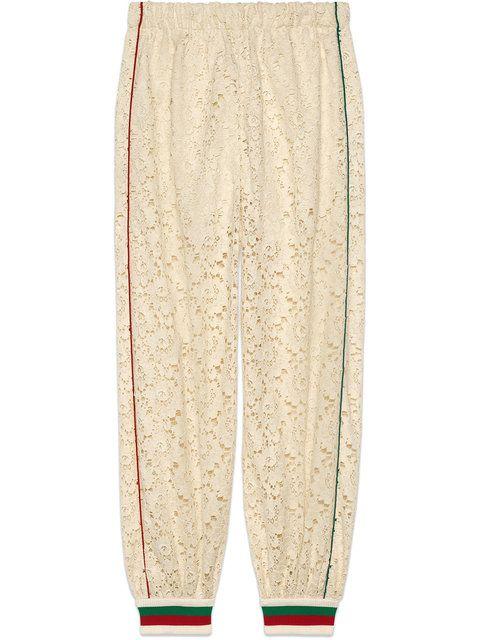 8c68e77be14d Gucci Flower Lace Jogging Pant | B O T T O M S U P | Jogger pants ...