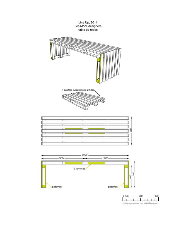 Here's a basic schematic to make your own cool desk using pallets!