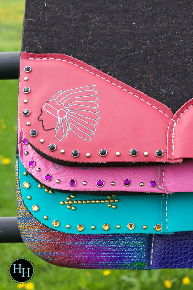 Colorful Best Ever saddle pads designed by Horses & Heels