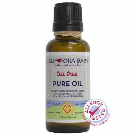 California Baby Pure Oil, Tea Tree, 1 Oz, Clear