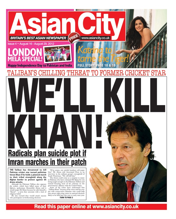 Asian City - Issue 4 #news #gossip #fashion #entertainment #music #sports #newspaper #tabloid #press #journalism #frontcover