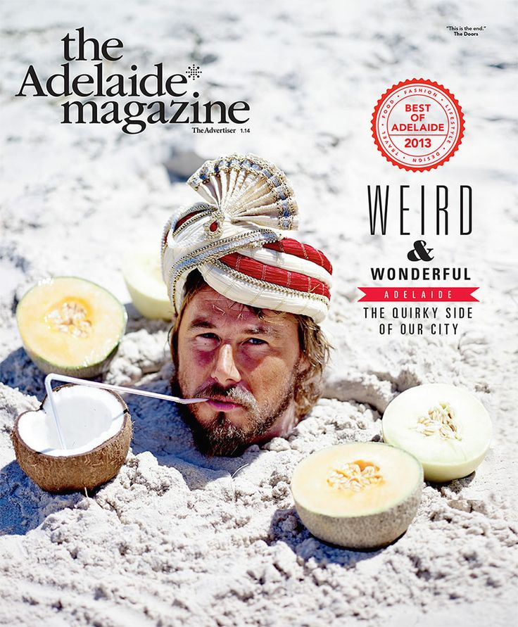 The Adelaide* Magazine 'Best of #Adelaide Issue' 2013. Photo by: John Laurie, ft designer James Brown