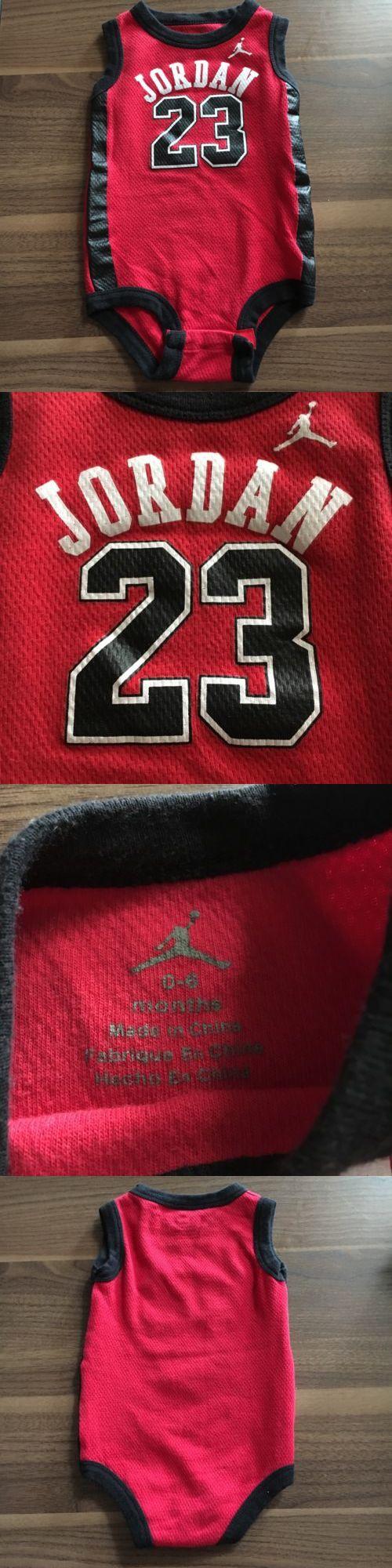 Michael Jordan Baby Clothing: Air Jordan 23 Michael Jordan Black And Red Baby Onesie Jersey Size 0-6 Months BUY IT NOW ONLY: $14.99