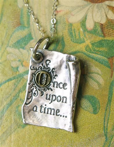 "ONCE UPON A TIME PENDANT...because your life is storybook wonderful and all of your dreams will come true. .925 Sterling. 1"" pendant. Waxing Poetic."