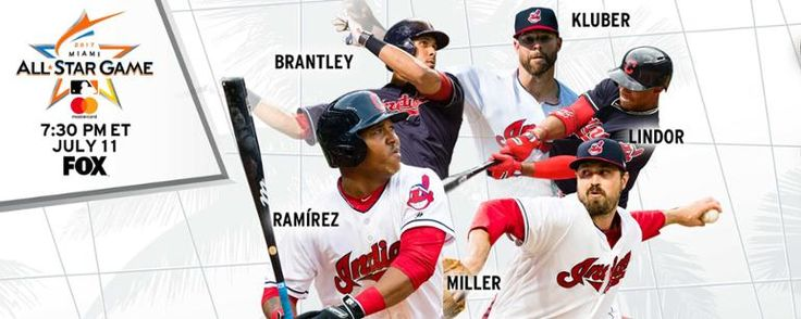 Terry Francona will be joined with 5 Tribe players for the ASG. Jose Ramirez, Francisco Lindor, Michael Brantley, Corey Kluber, and Andrew Miller. Go Tribe.