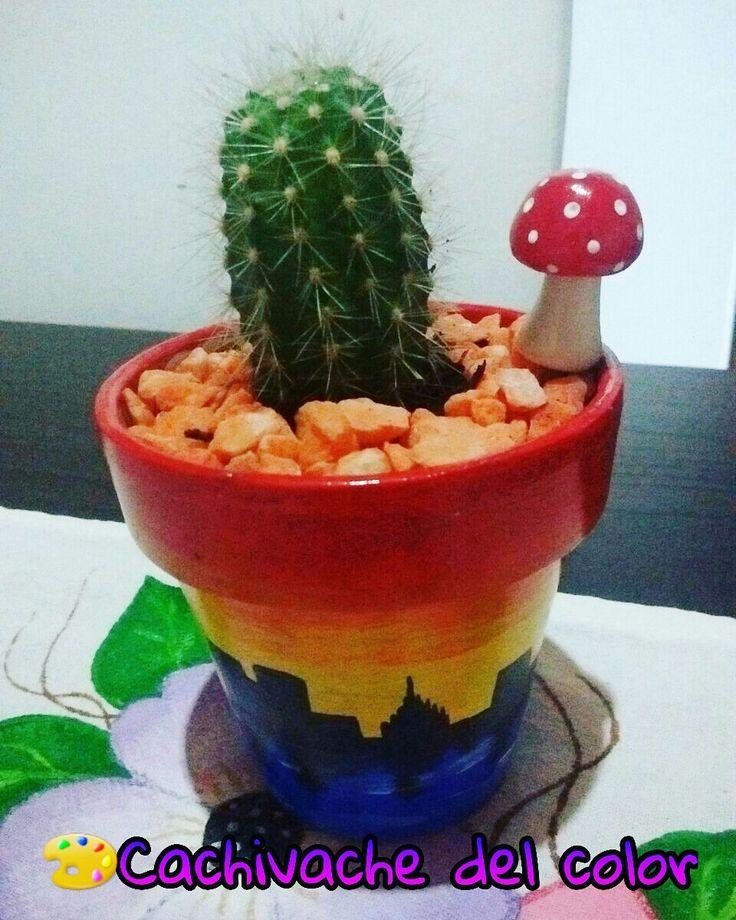 45 best macetas pintadas a mano! images on pinterest | cactus