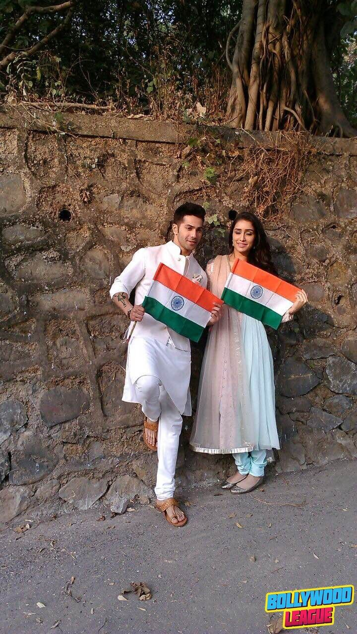 Varun Dhawan and Shraddha kapoor celebrating Republic day #bollywood bollywood #bollywood #news #photography #fashion #latest #top #india #style #beauty