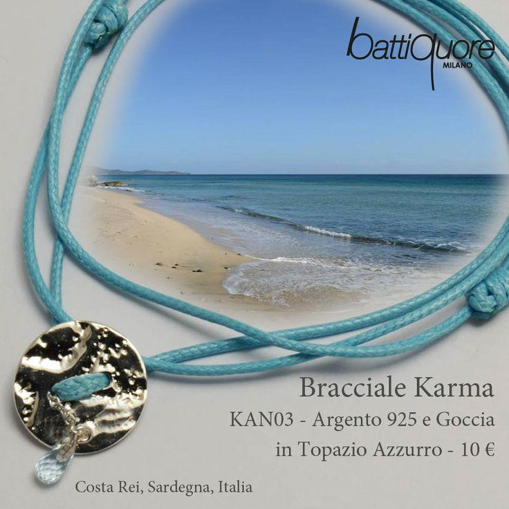 #Cartoline Battiquore per i nuovi Bracciali Karma #newcolor #azzurro #mare #jewels http://www.battiquore.it/shop/it/karma/78-kan03.html