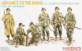 1/35 WWII Advance to the Rhine (dml6271) DML Plastic Model Military Figures