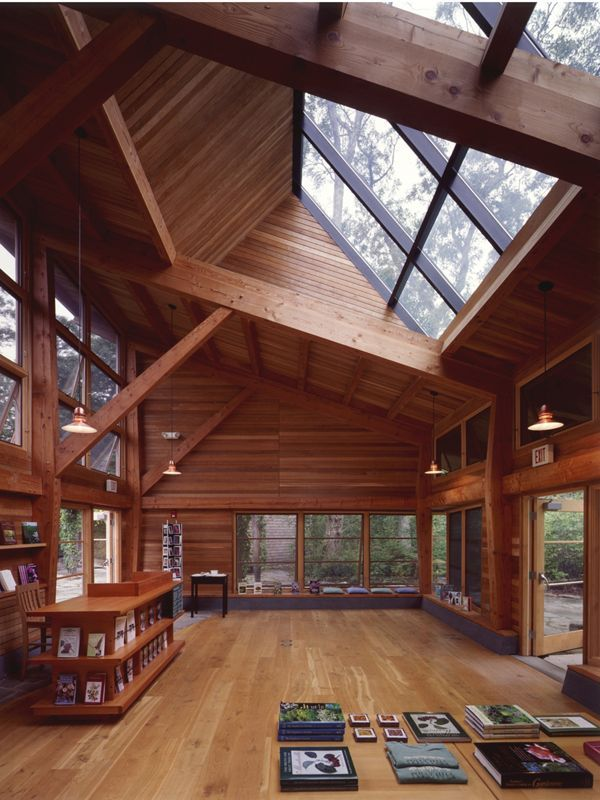 Love this big open room with the large skylights.