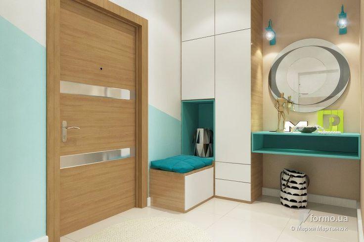 Квартира-студия в холодных цветах, Мария Мартынюк, Холл/Коридор, Дизайн интерьеров Formo.ua