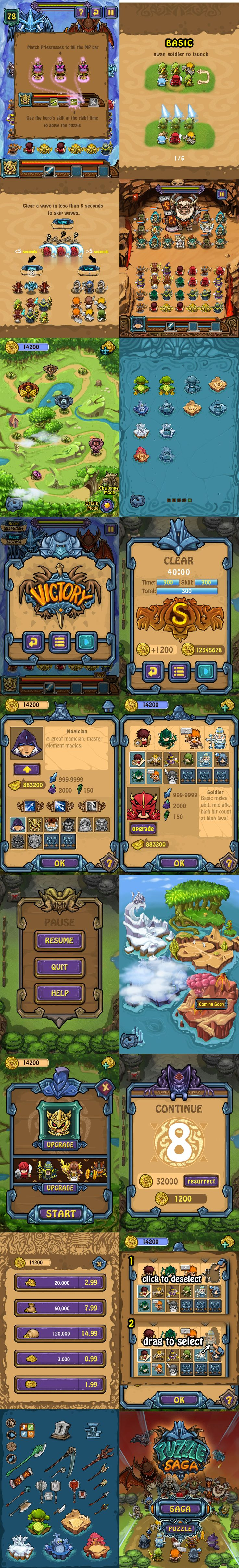 Puzzle Saga game art and ui