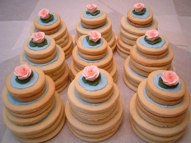 Find This Pin And More On Cake Decorating Secrets Tiered Cookie Cakes As Wedding Alternative