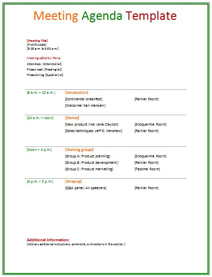 meetingagendatemplate agendas meeting agenda