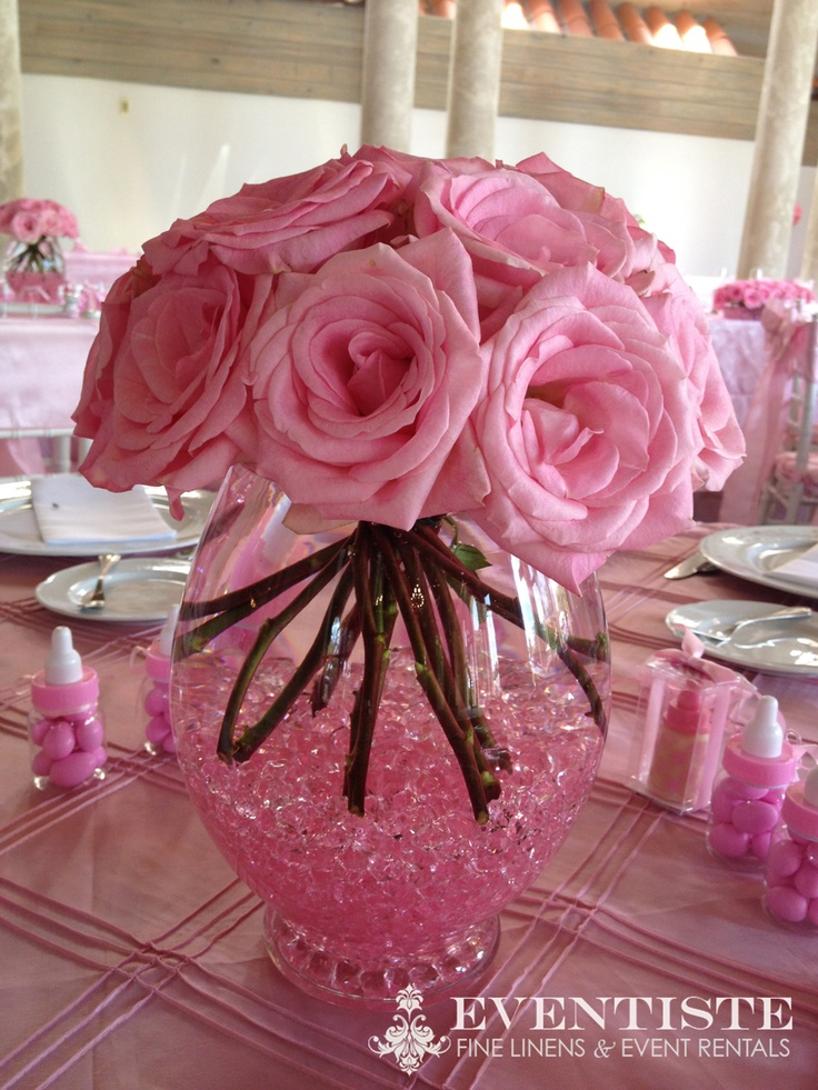 Baby shower at the coral gables country club pink triple pintuck