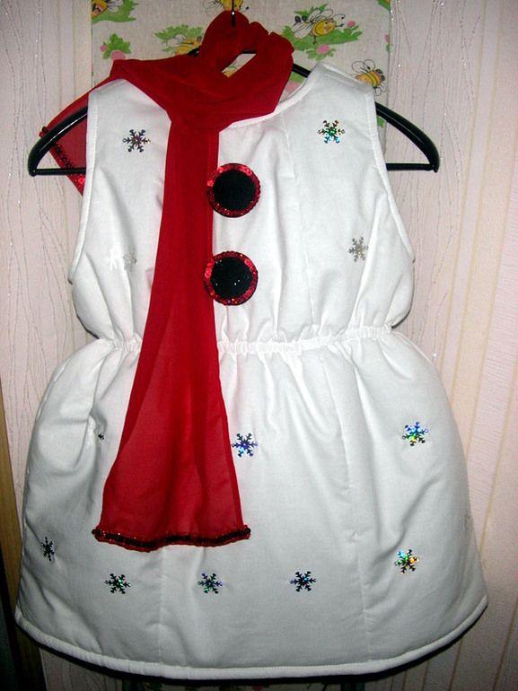 Картинки по запросу как сшить костюм снеговика