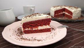 Tarta Red Velvet con remolacha fresca, sin colorantes y una estupenda cobertura de crema mascarpone.