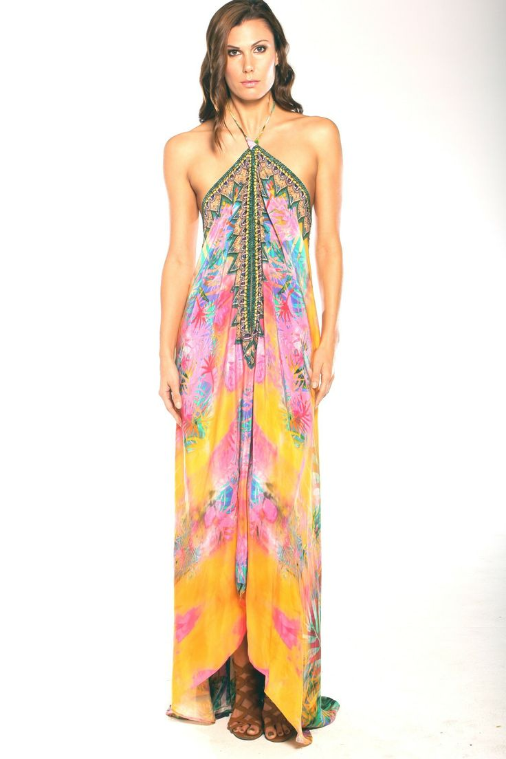 Parides Orange 3 Ways To Style Dress in Palm at Pesca Boutique. - Price: $341.00