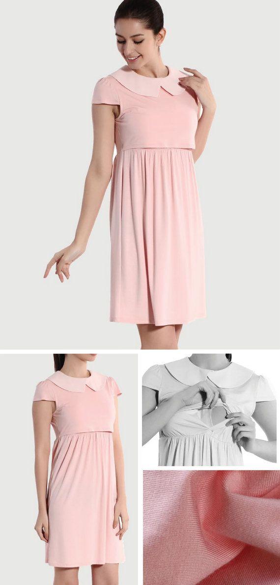 Plus nursing dress peach