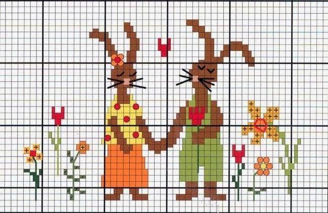 Милые сердцу штучки: Вышивка крестом: Веселая коллекция пасхальных зайцев