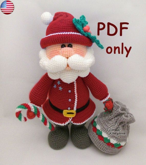 Uncinetto amigurumi Santa modello pdf di jasminetoys su Etsy