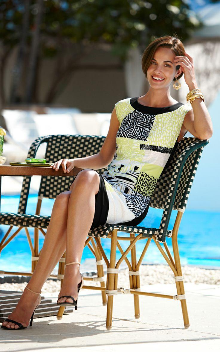 The Knit Kit Printed Dress. #DestinationFabulous #travel #spring #chicos