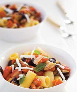 Rigatoni With Sauteed Eggplant and Tomatoes