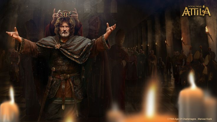 "ArtStation - ""The power of authority"" Total War: Attila - Age of Charlemagne, Total War Attila Tyrants & Kings, Mariusz Kozik"